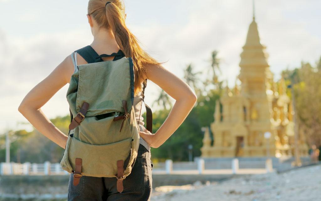 mochila para el viaje