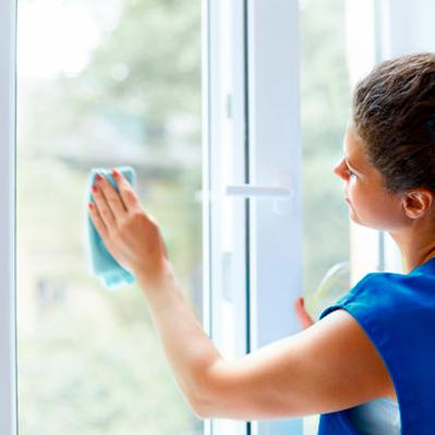 Limpieza de ventanas y espejos